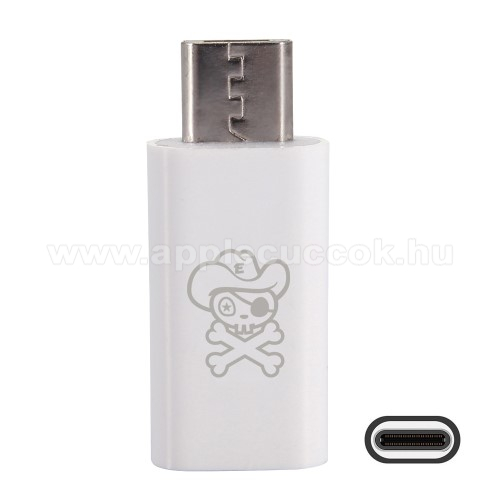 HAT PRINCE adapter USB 3.1 Type C-t microUSB 2.0-ra alak�tja �t - Adat�tvitelre is k�pes - FEH�R