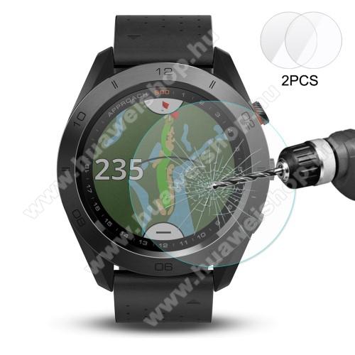 HAT PRINCE előlap védő karcálló edzett üveg - 2db - 0,2 mm vékony, 9H, 2.15D, A képernyő sík részét védi - Garmin Approach S60