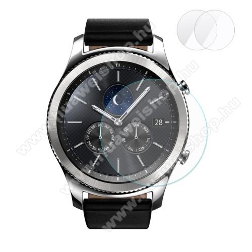 HAT PRINCE előlap védő karcálló edzett üveg - 2db - 0,2 mm vékony, 9H, 2.15D, A képernyő sík részét védi - SAMSUNG Galaxy Watch 46mm / SAMSUNG Gear S3 Classic / SAMSUNG Gear S3 Frontier