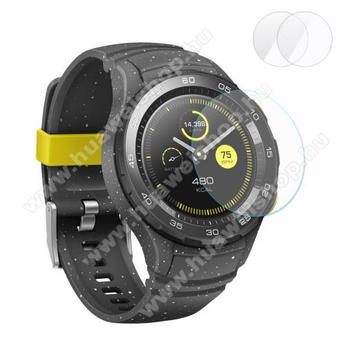 HUAWEI Watch 2HAT PRINCE előlap védő karcálló edzett üveg - 2db - 0,2 mm vékony, 9H, 2.15D - HUAWEI Watch 2