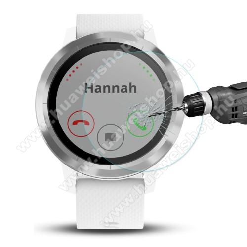 HAT PRINCE előlap védő karcálló edzett üveg - 2db - 0,2 mm vékony, 9H, 2.15D, A képernyő sík részét védi - Garmin Vivoactive 3 Trainer