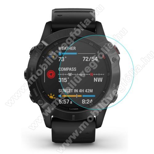 HAT PRINCE előlap védő karcálló edzett üveg - 1db - 0.2mm, 9H, A képernyő sík részét védi - Garmin Fenix 6 / Garmin Fenix 6 Pro / Garmin Fenix 6 Sapphire 47mm