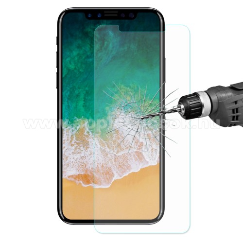 APPLE iPhone X HAT PRINCE előlap védő karcálló edzett üveg - 0,26 mm vékony, 9H, Arc Edge - APPLE iPhone X / APPLE iPhone XS