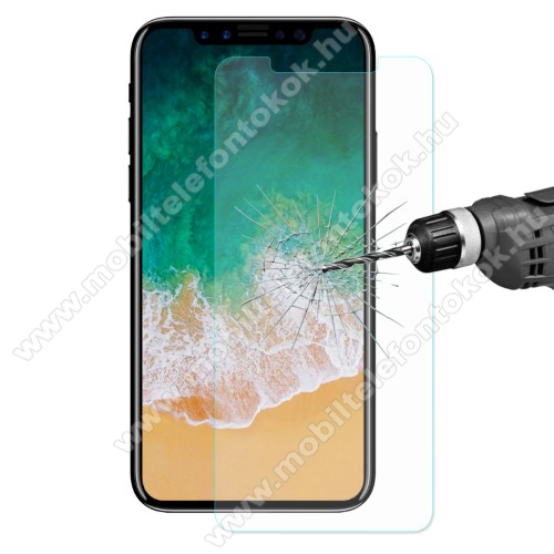 APPLE iPhone XS HAT PRINCE előlap védő karcálló edzett üveg - 0,26 mm vékony, 9H, Arc Edge - APPLE iPhone X / APPLE iPhone XS