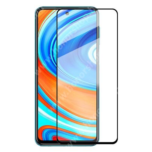 HAT PRINCE előlapvédő karcálló edzett üveg - 9H, 0,26mm, A teljes felületén tapad - A TELJES KIJELZŐT VÉDI! - FEKETE - Xiaomi Redmi Note 9 / Xiaomi Redmi 10X 4G - GYÁRI