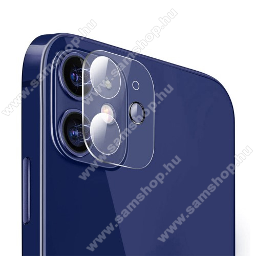 HAT PRINCE kamera lencsevédő karcálló edzett üveg - 1db, törlőkendővel, 2.15D, 9H - APPLE iPhone 12 - GYÁRI