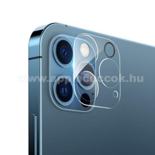 HAT PRINCE kamera lencsevédő karcálló edzett üveg - 1db, törlőkendővel, 2.15D, 9H - APPLE iPhone 12 Pro - GYÁRI