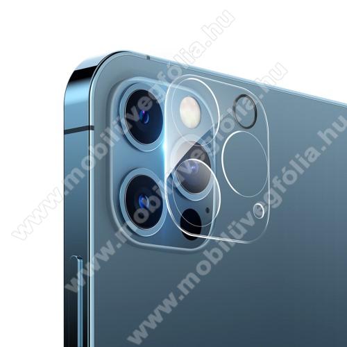 HAT PRINCE kamera lencsevédő karcálló edzett üveg - 1db, törlőkendővel, 2.15D, 9H - APPLE iPhone 12 Pro Max - GYÁRI
