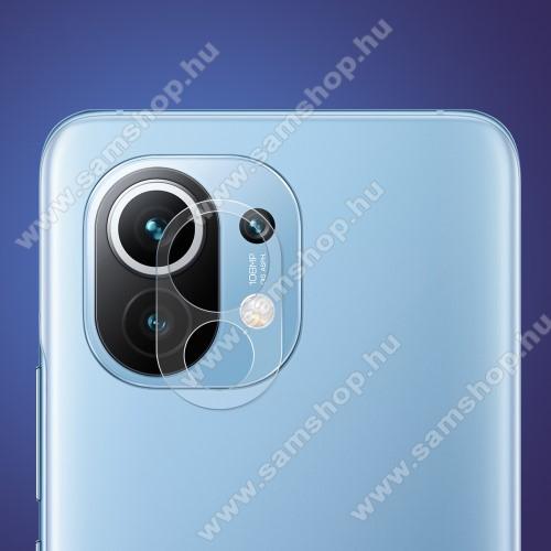 HAT PRINCE kameravédő üvegfólia - 1db, törlőkendővel, 0.2mm, 2.15D, 9H - Xiaomi Mi 11 - GYÁRI