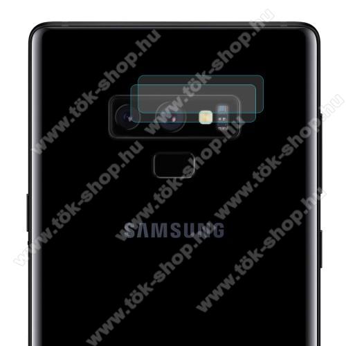 HAT PRINCE kameravédő üvegfólia - 2db, 0,2mm, törlőkendővel, 9H - SAMSUNG Galaxy Note9