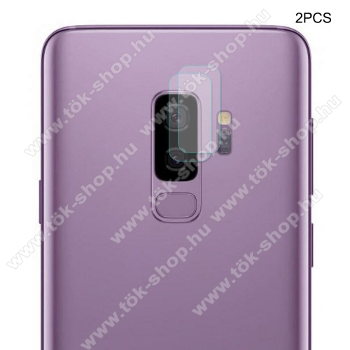 HAT PRINCE kameravédő üvegfólia - 2db, 0,2mm, törlőkendővel, 9H - SAMSUNG SM-G965 Galaxy S9+