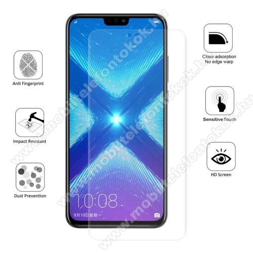 HUAWEI Honor 8XHAT PRINCE képernyővédő fólia - Ultra Clear, 0.1mm, TELJES KÉPERNYŐT VÉDI! - HUAWEI Honor 8X - GYÁRI