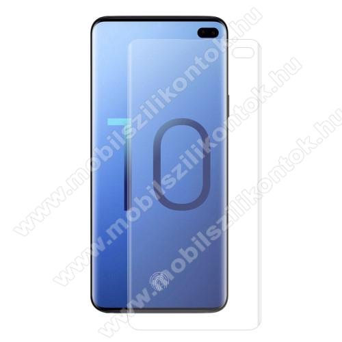 HAT PRINCE képernyővédő fólia - Ultra Clear, PET (műanyag), 1db, A TELJES KÉPERNYŐT VÉDI! - SAMSUNG SM-G975F Galaxy S10+ - GYÁRI