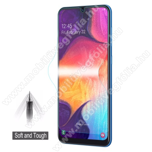 HAT PRINCE képernyővédő fólia - Ultra Clear, 0.1mm, TELJES KÉPERNYŐT VÉDI! - SAMSUNG SM-A205F Galaxy A20 / SAMSUNG SM-A305F Galaxy A30 / SAMSUNG SM-A505F Galaxy A50 / SAMSUNG SM-M305F Galaxy M30 - GYÁRI