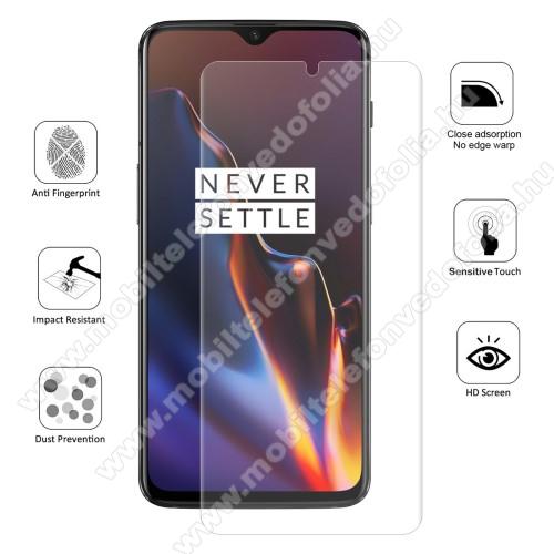 HAT PRINCE képernyővédő fólia - Ultra Clear, 0.1mm, TELJES KÉPERNYŐT VÉDI! - OnePlus 7 - GYÁRI