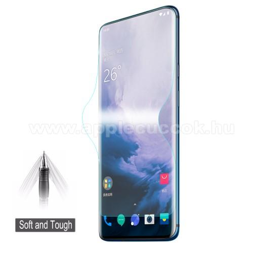 HAT PRINCE képernyővédő fólia - Ultra Clear, 0.1mm, TELJES KÉPERNYŐT VÉDI! - OnePlus 7 Pro / OnePlus 7 Pro 5G / OnePlus 7T Pro - GYÁRI