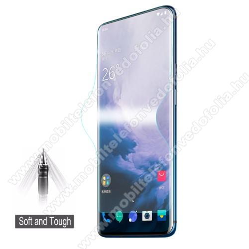 HAT PRINCE képernyővédő fólia - Ultra Clear, 0.1mm, TELJES KÉPERNYŐT VÉDI! - OnePlus 7 Pro - GYÁRI