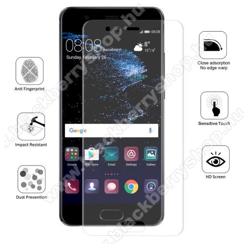 HAT PRINCE képernyővédő fólia - Ultra Clear, 0.1mm, 2.5D, TELJES KÉPERNYŐT VÉDI! - HUAWEI P10 Plus - GYÁRI