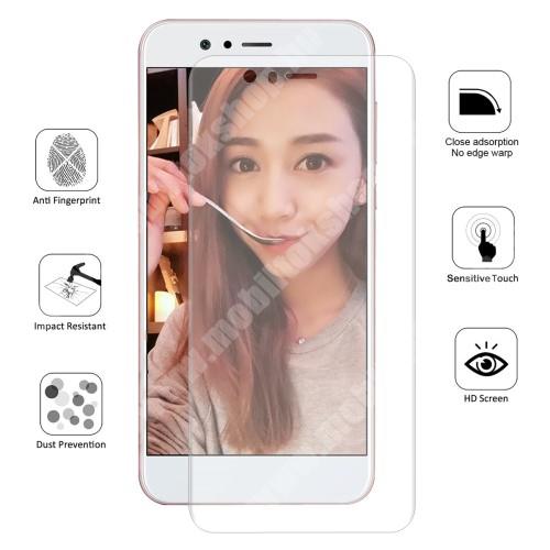 HAT PRINCE képernyővédő fólia - Ultra Clear, 0.1mm, 2.5D, TELJES KÉPERNYŐT VÉDI! - HUAWEI Nova 2 - GYÁRI