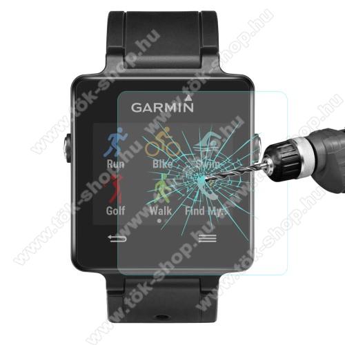 HAT PRINCE okosóra előlap védő karcálló edzett üveg - 1db - 0,2 mm vékony, 9H, 2.15D, A képernyő sík részét védi - Garmin Vivoactive
