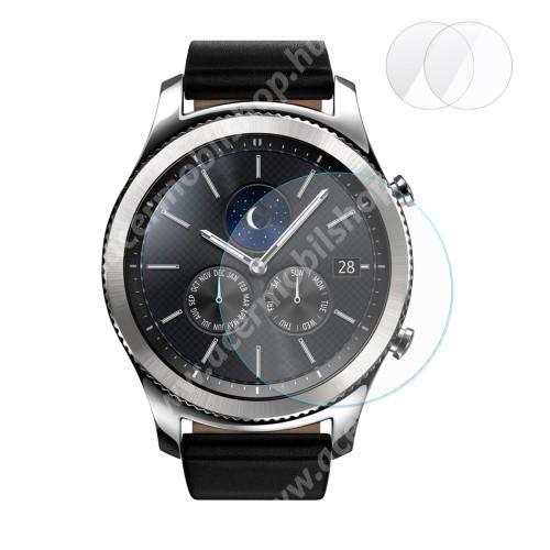 HAT PRINCE okosóra előlap védő karcálló edzett üveg - 2db - 0,2 mm vékony, 9H, 2.15D, A képernyő sík részét védi - SAMSUNG Galaxy Watch 46mm / SAMSUNG Gear S3 Classic / SAMSUNG Gear S3 Frontier