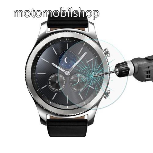 HAT PRINCE okosóra előlap védő karcálló edzett üveg - 1db - 0,2 mm vékony, 9H, 2.15D, A képernyő sík részét védi - SAMSUNG Galaxy Watch 46mm / SAMSUNG Gear S3 Classic / SAMSUNG Gear S3 Frontier