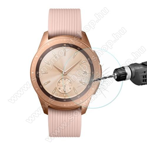 HAT PRINCE okosóra előlap védő karcálló edzett üveg - 1db - 0.2mm, 9H, A képernyő sík részét védi - SAMSUNG SM-R810NZ Galaxy Watch 42mm