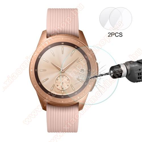 HAT PRINCE okosóra előlap védő karcálló edzett üveg - 2db - 0.2mm, 9H, A képernyő sík részét védi - SAMSUNG SM-R810NZ Galaxy Watch 42mm