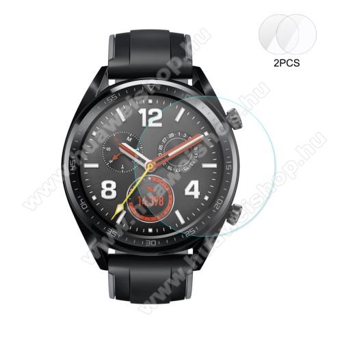 HUAWEI Watch GTHAT PRINCE okosóra előlap védő karcálló edzett üveg - 2db - 0,2 mm vékony, 9H, 2.15D - HUAWEI Watch GT