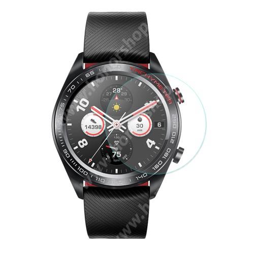 HAT PRINCE okosóra előlap védő karcálló edzett üveg - 1db - 0,2 mm vékony, 9H, 2.15D, A képernyő sík részét védi - HUAWEI Honor Watch Magic