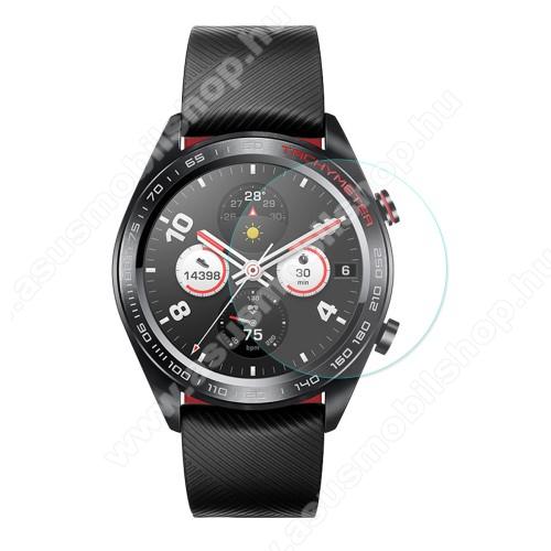 HAT PRINCE okosóra előlap védő karcálló edzett üveg - 1db - 0,2 mm vékony, 9H, 2.15D - HUAWEI Honor Watch Magic
