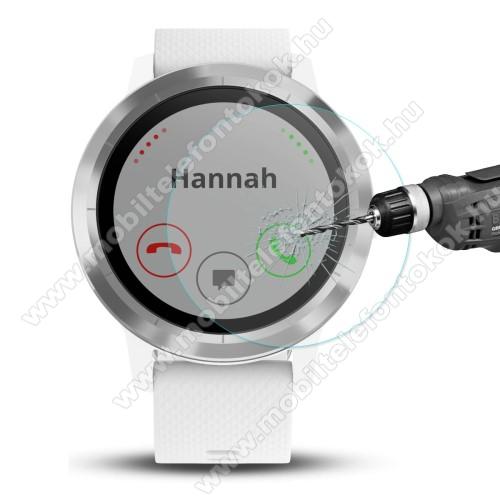 HAT PRINCE okosóra előlap védő karcálló edzett üveg - 2db - 0,2 mm vékony, 9H, 2.15D, A képernyő sík részét védi - Garmin Vivoactive 3 Trainer