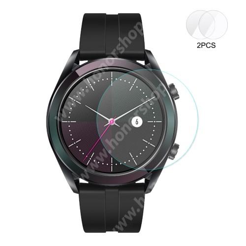 HUAWEI Watch GT 2 42mm HAT PRINCE okosóra előlap védő karcálló edzett üveg - 2db - 0,2 mm vékony, 9H, 2.15D, A képernyő sík részét védi - HUAWEI Watch GT 2 42mm