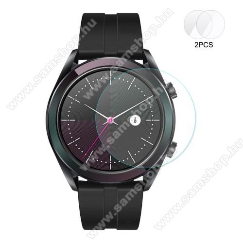 HAT PRINCE okosóra előlap védő karcálló edzett üveg - 2db - 0,2 mm vékony, 9H, 2.15D, A képernyő sík részét védi - HUAWEI Watch GT 2 42mm