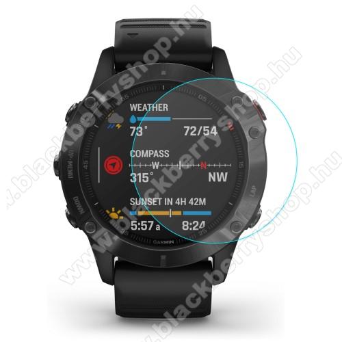 HAT PRINCE okosóra előlap védő karcálló edzett üveg - 1db - 0.2mm, 9H, A képernyő sík részét védi - Garmin Fenix 6 / Garmin Fenix 6 Pro / Garmin Fenix 6 Sapphire 47mm