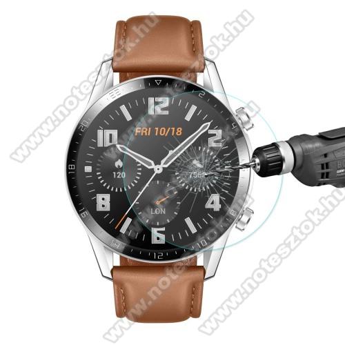 HUAWEI Honor MagicWatch 2 46mmHAT PRINCE okosóra előlap védő karcálló edzett üveg - 1db - 0,2 mm vékony, 9H, 2.15D, A képernyő sík részét védi - HUAWEI Watch GT 2 46mm / HONOR Magicwatch 2 46mm