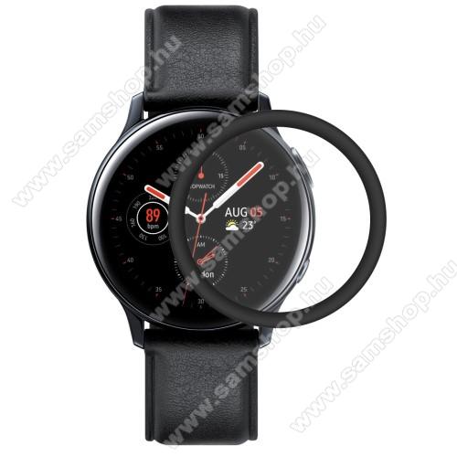 SAMSUNG Galaxy Watch Active2 44mmHAT PRINCE okosóra képernyővédő fólia - 1db - 3D Curved, A teljes képernyőt védi - FEKETE - Samsung Galaxy Watch Active2 44mm - GYÁRI