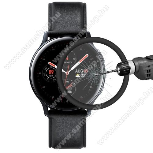 SAMSUNG Galaxy Watch Active2 44mmHAT PRINCE okosóra képernyővédő fólia - 1db, 6H - 3D Curved, A teljes képernyőt védi - FEKETE - SAMSUNG Galaxy Watch Active2 44mm - GYÁRI