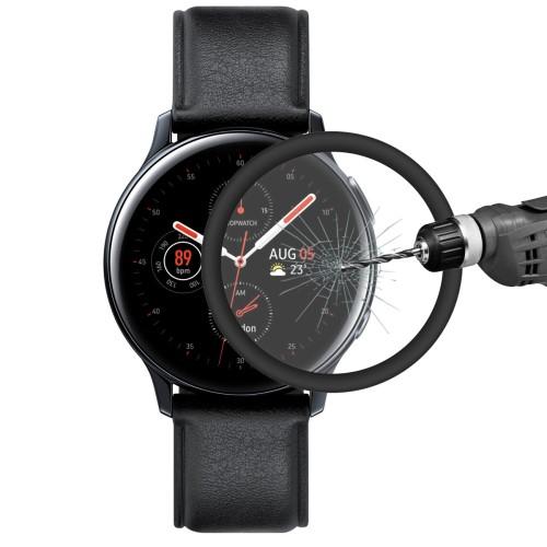 HAT PRINCE okosóra képernyővédő fólia - 1db, 6H - 3D Curved, A teljes képernyőt védi - FEKETE - SAMSUNG Galaxy Watch Active2 44mm - GYÁRI
