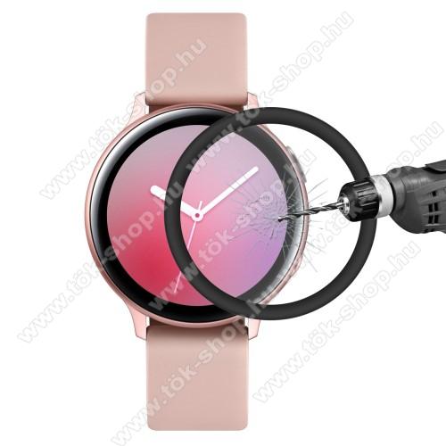 HAT PRINCE okosóra képernyővédő fólia - 1db, 6H - 3D Curved, A teljes képernyőt védi - FEKETE - SAMSUNG Galaxy Watch Active2 40mm - GYÁRI