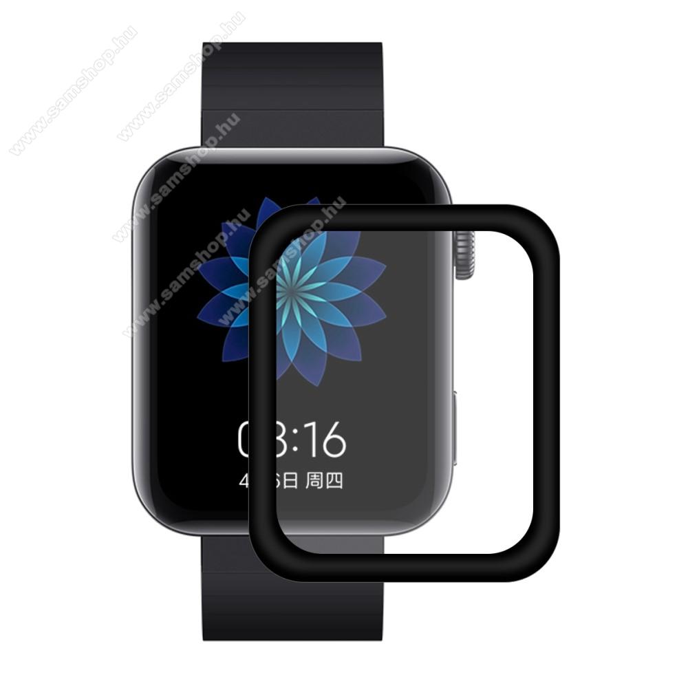 HAT PRINCE okosóra képernyővédő fólia - 1db, 3D Curved, A teljes képernyőt védi - FEKETE - Xiaomi Mi Watch (For China Market) - GYÁRI