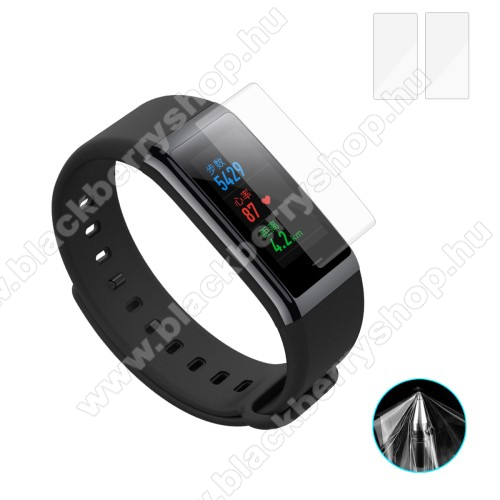HAT PRINCE okosóra képernyővédő fólia - CLEAR - TPU - 2DB - Xiaomi Huami Amazfit Cor
