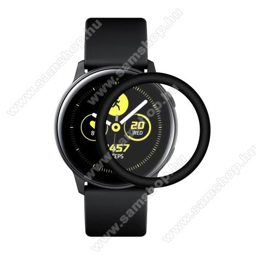 HAT PRINCE Okosóra képernyővédő fólia - FEKETE - 1db, törlőkendővel - A TELJES ELŐLAPOT VÉDI! - SAMSUNG SM-R500 Galaxy Watch Active