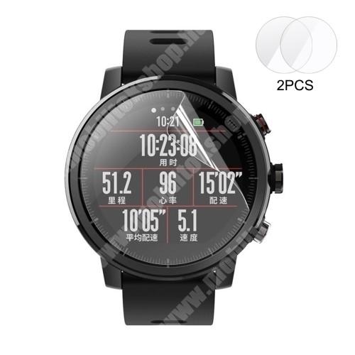 HAT PRINCE okosóra képernyővédő fólia - Ultra Clear - 2db, törlőkendővel - Xiaomi Amazfit 2  / Huami Amazfit 2 / Huami Amazfit 2S / Amazfit Pace 2 Stratos / Amazfit Stratos 2S