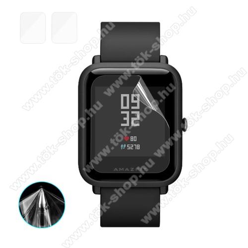 HAT PRINCE okosóra képernyővédő fólia - Ultra Clear - 2db, törlőkendővel - Huami Amazfit Bip