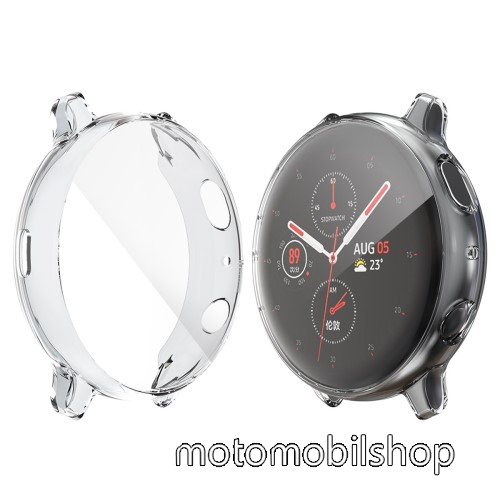 HAT PRINCE okosóra szilikon védő tok / keret - ÁTLÁTSZÓ - Szilikon előlapvédő is - SAMSUNG Galaxy Watch Active2 40mm - GYÁRI