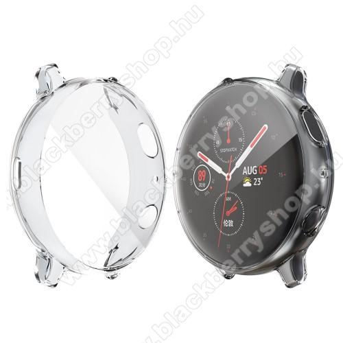 HAT PRINCE okosóra szilikon védő tok / keret - ÁTLÁTSZÓ - Szilikon előlapvédő is - SAMSUNG Galaxy Watch Active2 44mm - GYÁRI