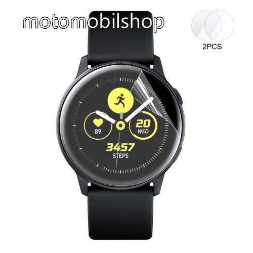 HAT PRINCE Okosóra TPU képernyővédő fólia - CLEAR - 2db, törlőkendővel - A TELJES ELŐLAPOT VÉDI! - SAMSUNG SM-R500 Galaxy Watch Active