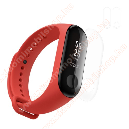 HAT PRINCE TPU okosóra képernyővédő fólia - CLEAR - 2db - Xiaomi Mi Band 3