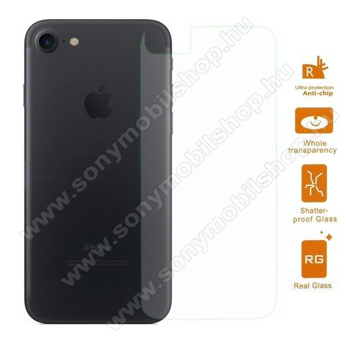 Hátlap védő karcálló edzett üveg - 0,3 mm vékony, 9H, Arc Edge, A hátlap sík részét védi - APPLE iPhone SE (2020) / APPLE iPhone 7 / APPLE iPhone 8
